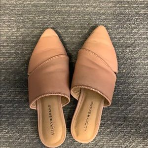 Lucky Brand tab mules
